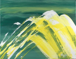 fine art acrylic painting Wave by Masako