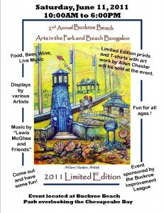 arts in the park flyer