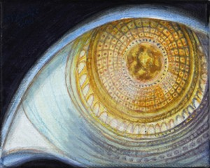 contemporary surreal painting EYE by Masako