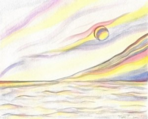 "Watercolor painting ""My Dream"" by Masako"