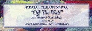 Off the wall art show & sale at Norfolk Collegiate school